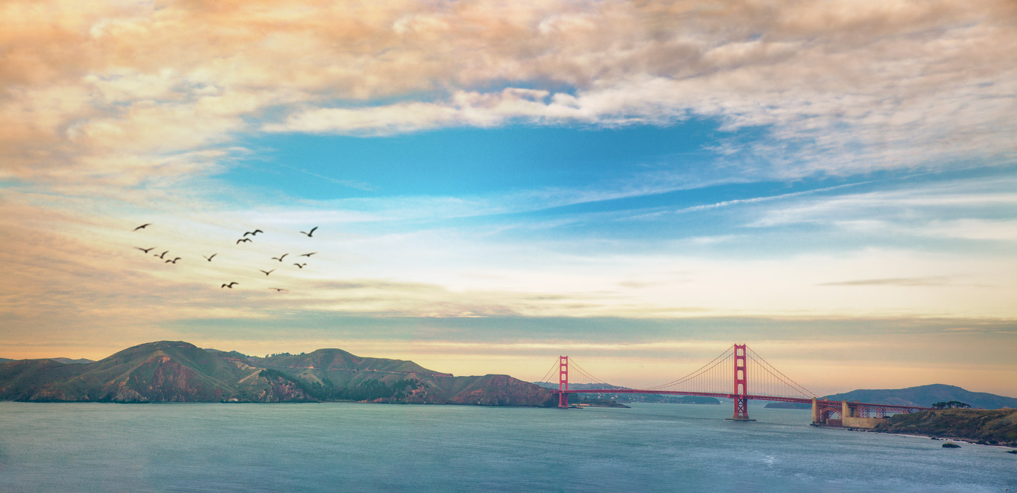 The Golden Gate Bridge, as seen from Land's End, in San Francisco