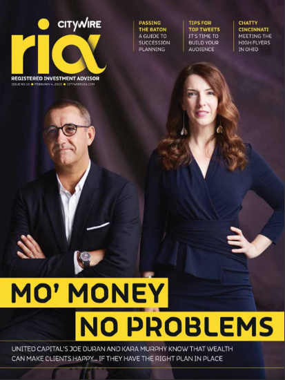 CITYWIRE RIA MAGAZINE | ISSUE 10    THIS ISSUE ROLLS IN THE NEW YEAR, WHICH CERTAINLY STARTED WITH A BANG, AS A HORRENDOUS END TO 2018 PROMPTED SIZABLE OUTFLOWS FROM ACTIVE FUNDS. THE US HAD A SHUTDOWN, THE UK HAD A BREAKDOWN AND APPLE ISSUED A PROFIT WARNING, TO NAME JUST THREE OF THIS ISSUE'S BIGGEST STORIES.