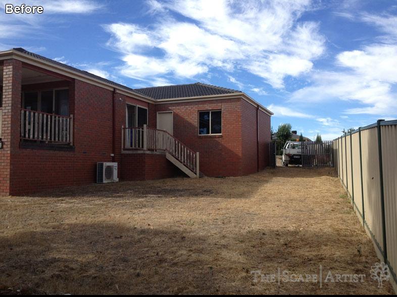 Ballarat backyard - before The Scape Artist went to work