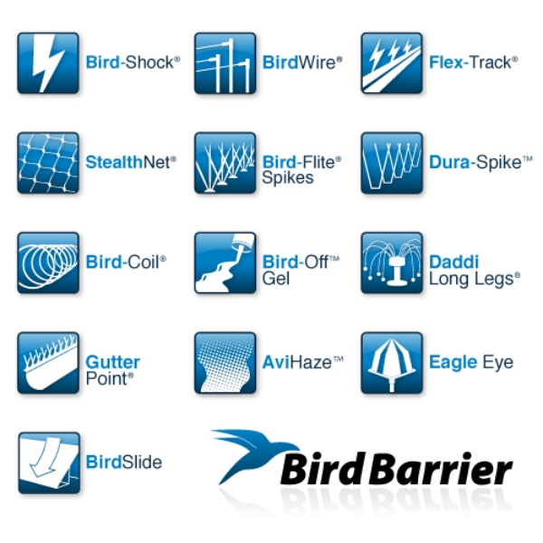 Multiple Icon Project and Logo Redesign for BirdBarrier
