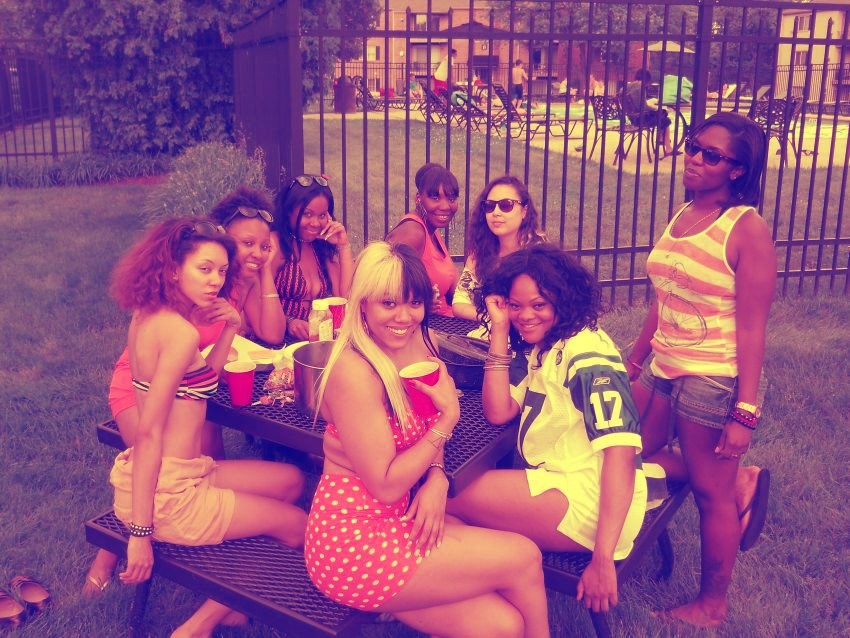 The crew for my birthday a few years ago!