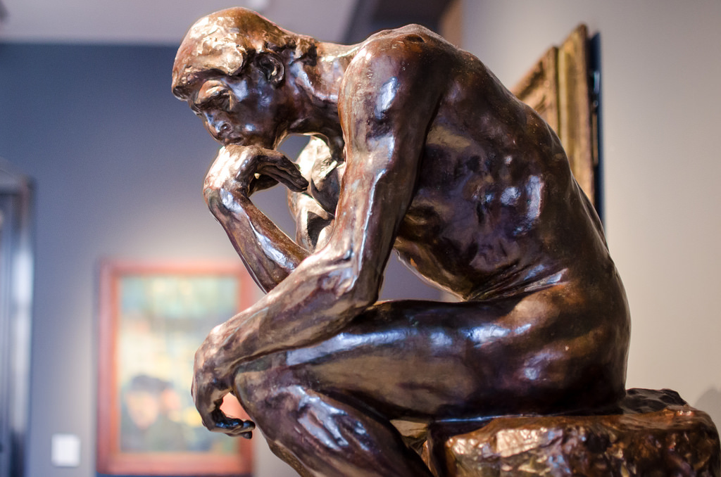 """""""The Thinker"""" by Auguste Rodin"""