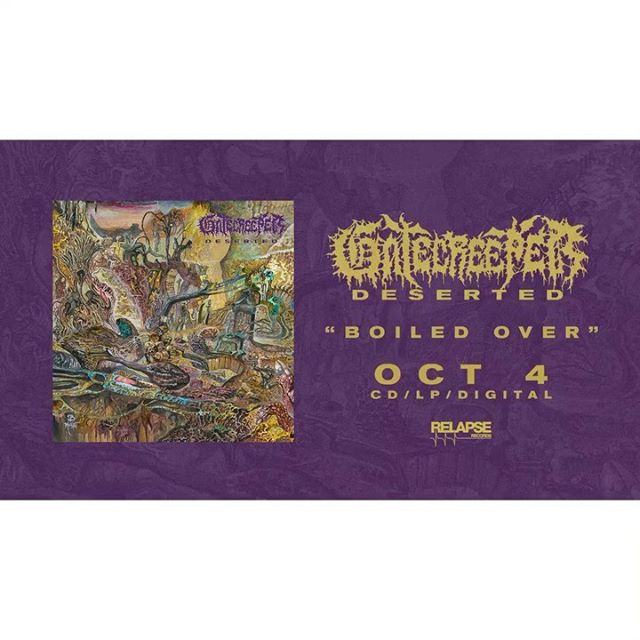"""Today is a big day- it's my 29th birthday, but more importantly the new @gatecreeper LP """"DESERTED"""" on @relapserecords is now up for up for preorder!  We all worked incredibly hard on this record and I'm super excited for everyone to hear it. Official release is October 4th, but you can hear the debut single BOILED OVER as well as preorder at: http://ffm.to/gatecreeperdeserted  Engineered by yours truly at Homewrecker Studios, mixed by @godcitymusic and mastered by @audiosiege Cover art by Brad Moore . . #gatecreeperdeserted #gatecreeper #relapserecords #sonorandesertdeathmetal #homewreckerstudios"""