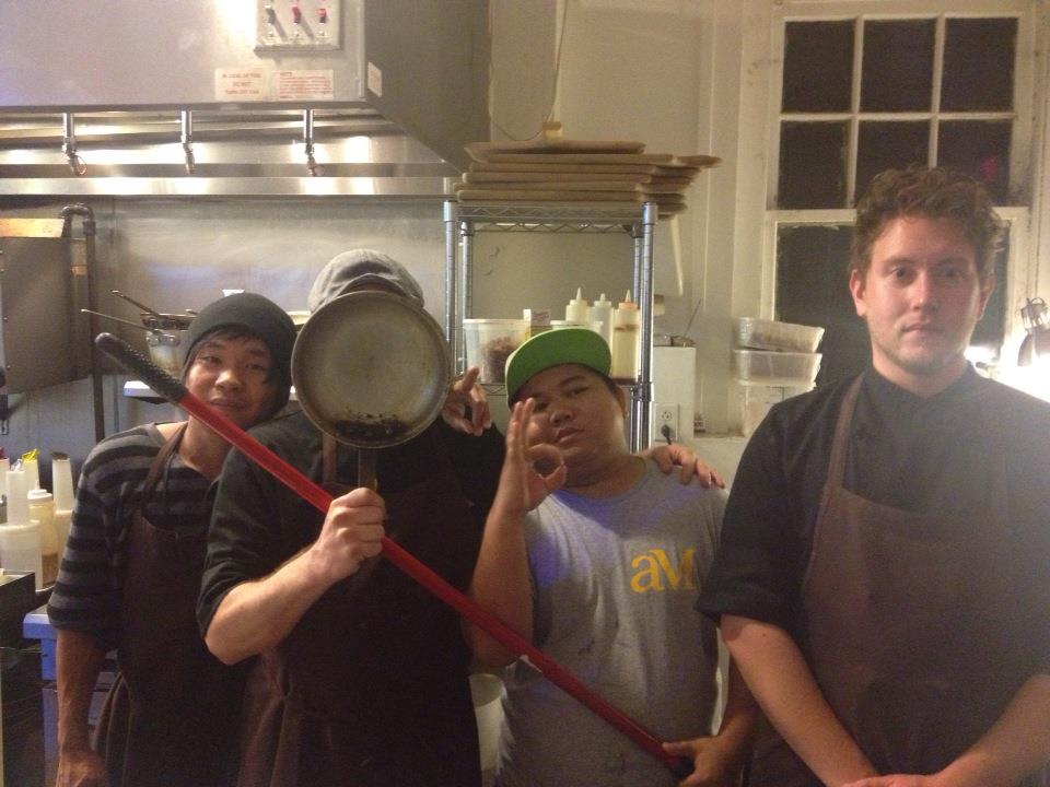 I'm the guy behind the sauté pan. Late nights cleaning up and making jokes and truly getting to know people.