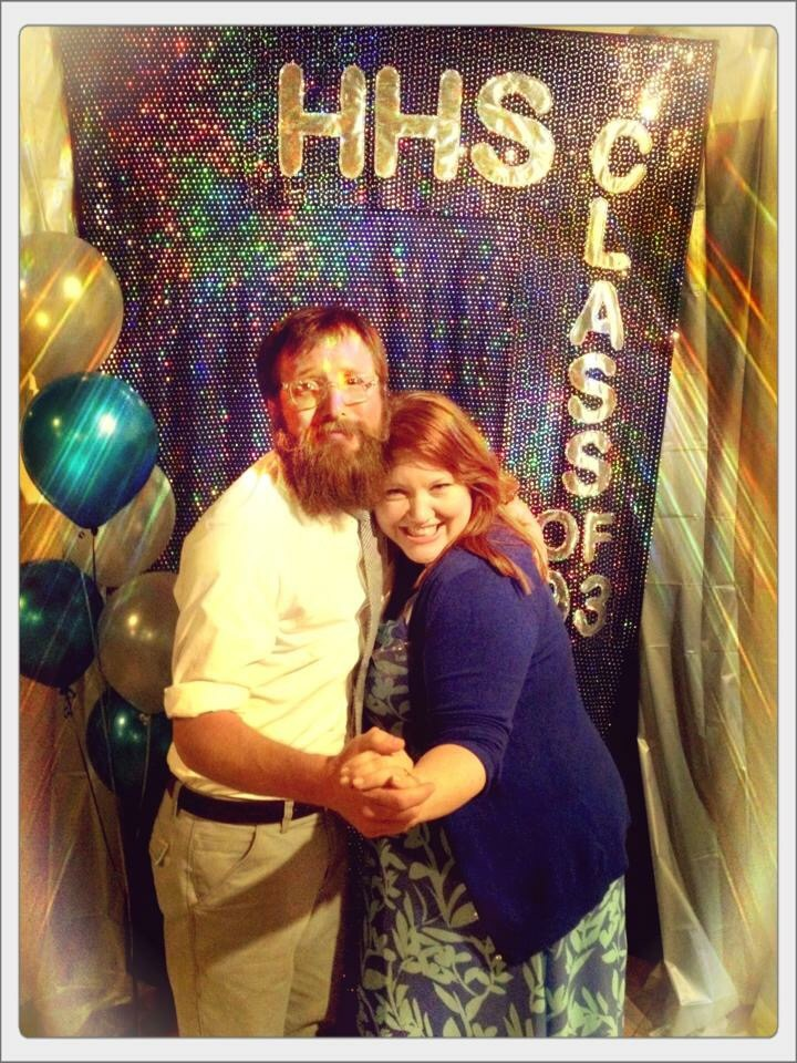 This was from our twentieth year class reunion. Sure I could have used a pic of Dana and her hubby and kid but seriously, look at that beard!