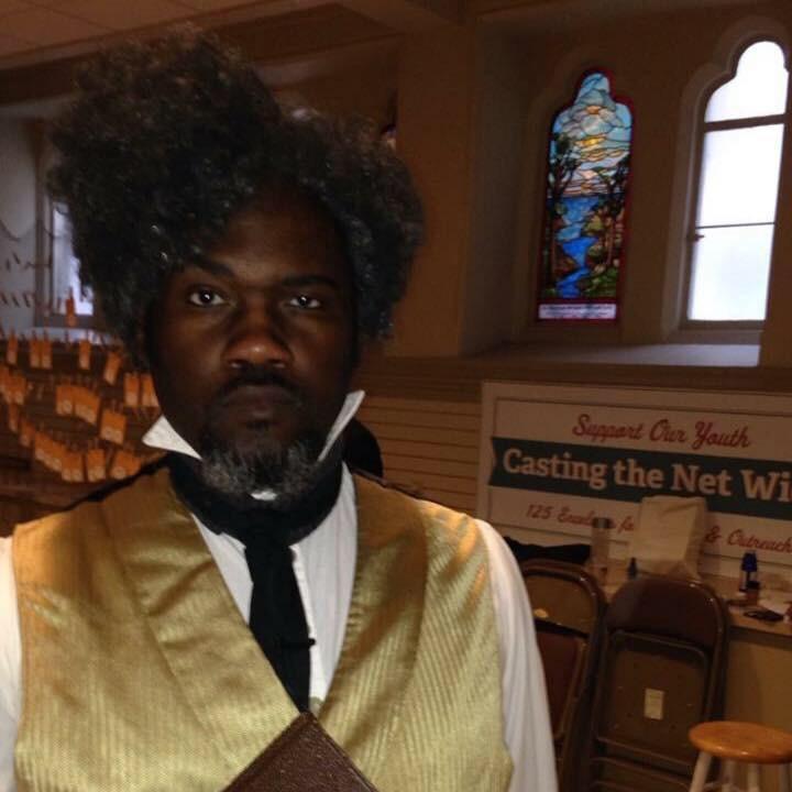 Bakari King as Frederick Douglas.
