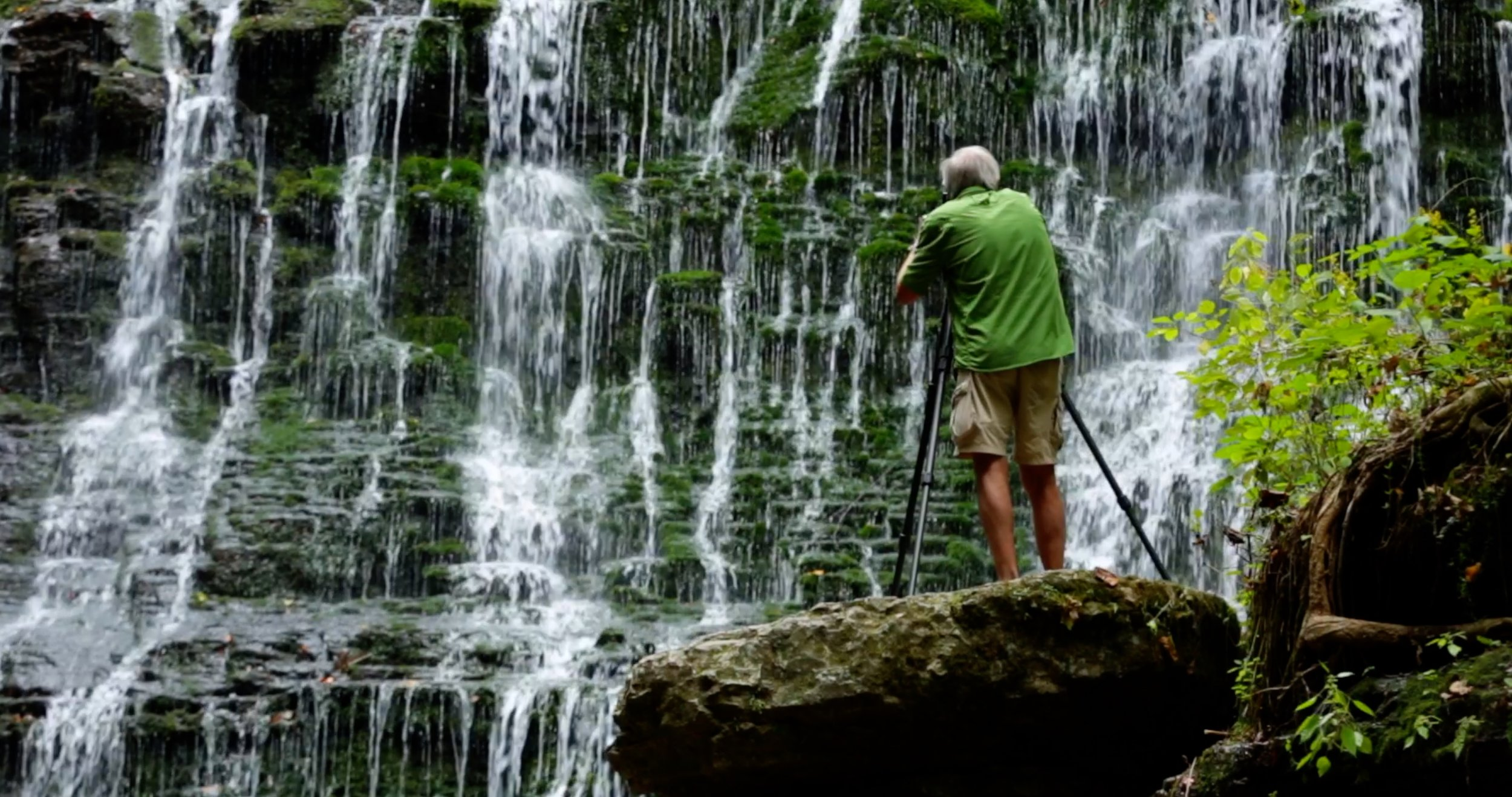 Byron Jorjorian at Machine Falls in Tennessee.  We are currently in development of a feature length film about the work of nature preservation through the art of fine art photography with one of America's premiere Nature photographers.