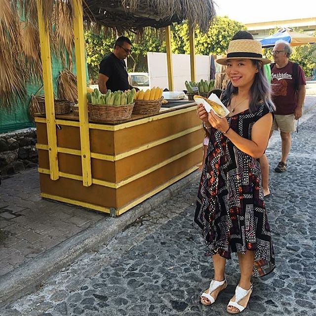 Our fave gal @shop_anme looking fab wearing the Ava Dress while a vacationing in Santorini Greece!! We are so jelly! ❤️ #ethicalfashion