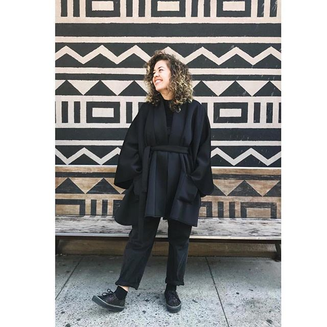 Black on Black on Black! The Chloe Poncho in Black now available @marcheruedix 😍🙌🏾! #ethicalfashion