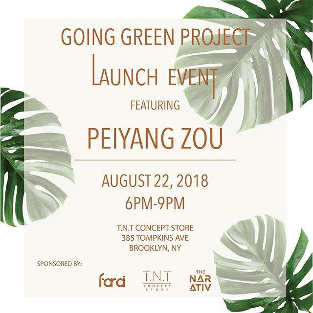 We are thrilled to have partnered with @thenarativ and @tntconceptstore for the 1st installment of the Going Green Project!! Out of 20 emerging designers, @peiyang_zou, a recent graduate of Parsons, was selected as our first participant to design a collection using up-cycled fabric from our past collections.  Join us Aug 22nd for the unveiling of his collection!  To learn more about the Going Green Project and to apply for the 2nd installment for Fall 2018 click link in bio.  #goinggreenproject #ethicalfashion #emergingdesigners