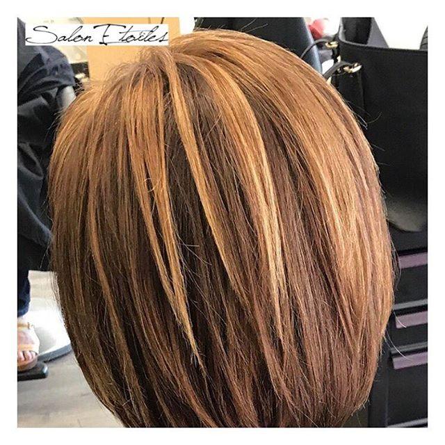 Highlights and colour touch up on our client by @nasim.etoiel . . .  #salonetoiles #americansalon #behindthechair #coiffeur #certifiedhaircolorists #instahair #virginiahairstylist #marylandhairstylist #bob #shorthair #brunette #highlights #haircolor #hairstyles #hairstylist #washingtondc #viennava #healthyhair #modernsalon #renefurturer #renefurturerusa #shinnyhair #straighthair #btc