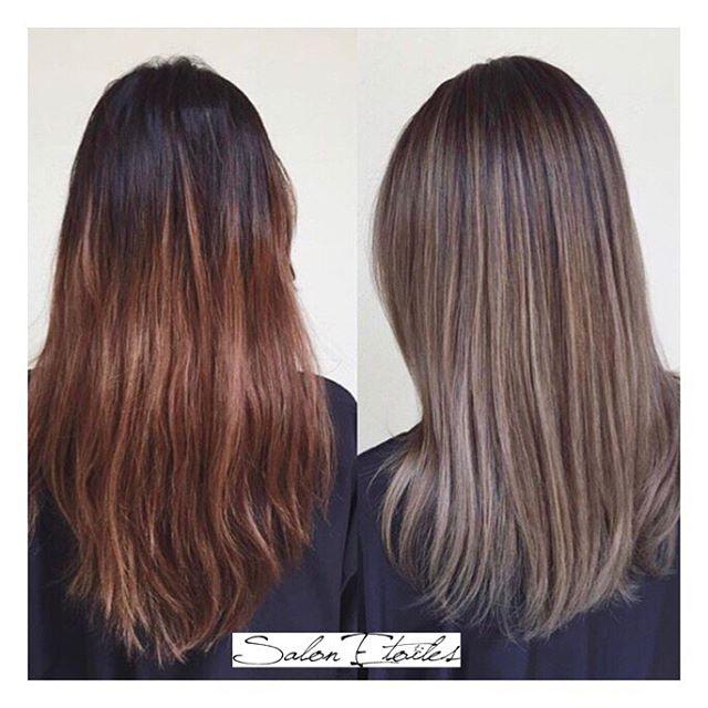 Before and after #hairtransformation done by @nasim.etoiel . . .  #salonetoiles #americansalon #behindthechair #coiffeur #certifiedhaircolorists #instahair #virginiahairstylist #marylandhairstylist #bob #shorthair #brunette #highlights #haircolor #hairstyles #hairstylist #washingtondc #viennava #healthyhair #modernsalon #renefurturer #renefurturerusa #shinnyhair #straighthair #btc