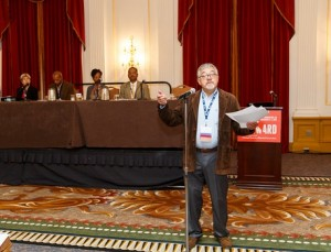 """""""Recognizing Our Shared History"""" panelists were led by moderator Dr. Luis Hoyos. Photo by David Keith."""