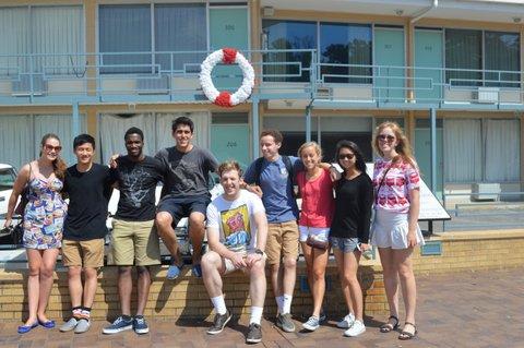 From left to right, the scholars (with their University and home Country or State) are: Tierney Maray (Duke, Australia), Andrew Tan-Delli Cicchi (Duke, New Zealand), Oluwasanmi (Sanmi) Oyenuga (Duke, Nigeria), Sebastian Baquerizo (Duke, Ecuador), Jacob Oliffe (UNC, Australia), Griffin Unger (UNC, US - Pennsylvania), Virginia Hamilton (UNC, US - Georgia), Jaclyn Lee (UNC, US - California), Charlotte McKay (UNC, New Zealand)