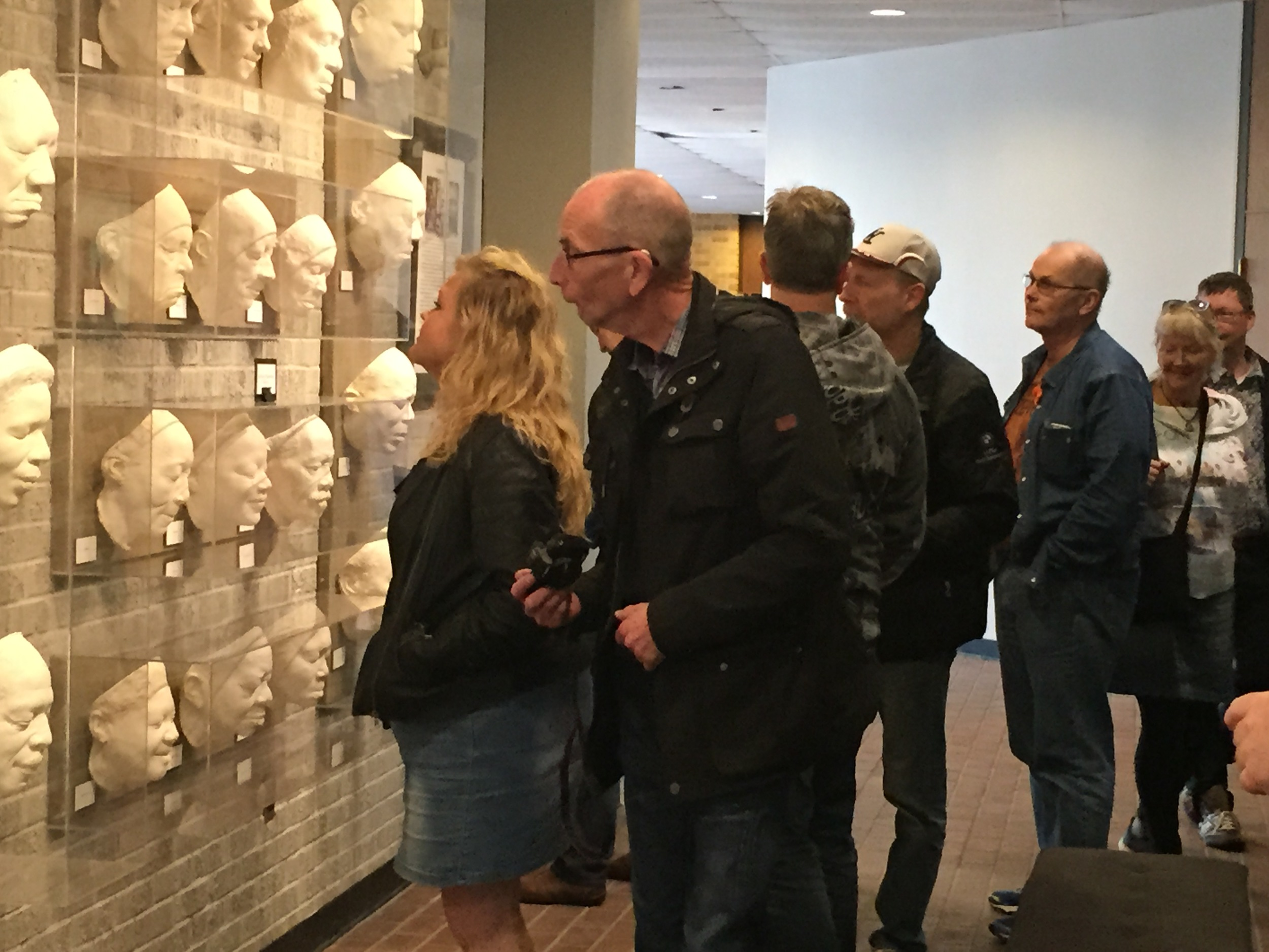 The Swedish tour group's trip began with a visit to the Delta Center for Culture and Learning where they viewed Sharon McConnell's lifecasts of Blues artists in the Center's gallery space.