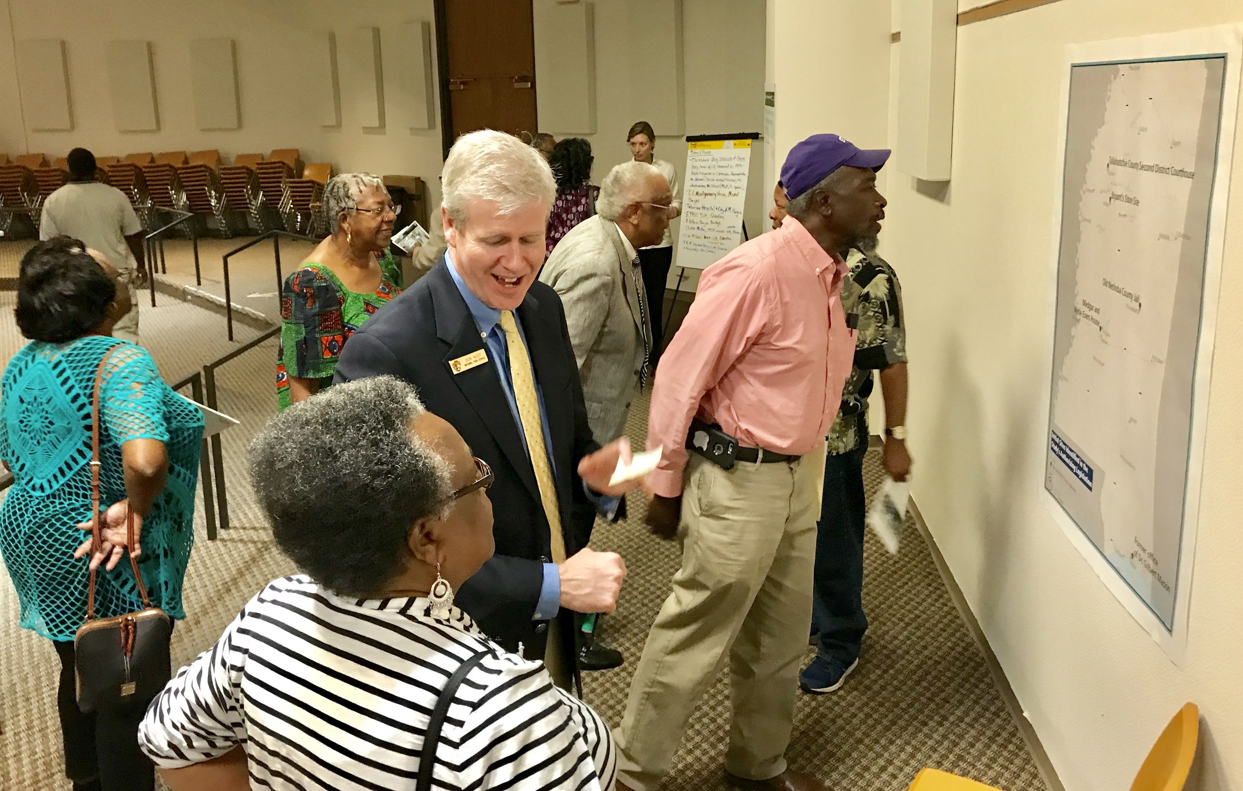 Ben West and community at NPS civil rights open house.jpg