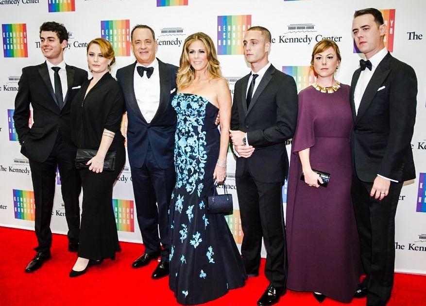 Tom Hanks, Rita Wilson, & Family