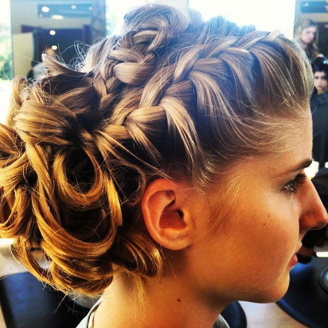 Braided updo for homecoming dance.#hairperfectionist  #braid #updo #teenclub