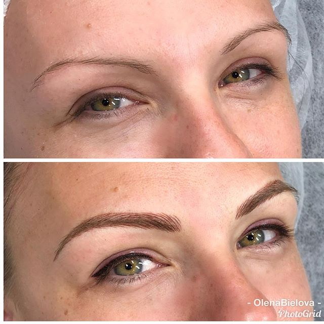 Her green eyes lit up when we added an eyeliner and fuller eyebrows frame it perfectly.  Microblading/shading technique + eyeliner  Good for up to 2 years  Touch up in 4-6 weeks required  #microbladinggrandrapids #eyelinergrandrapids #grandrapidsmakeup #lamicroblading #microbladingla #microblading  #eyelinertattoo #semipermanentmakeup #wakeupwithmakeup #shadingeyebrows #permanenttransformation #permanentartist #microbladingartist