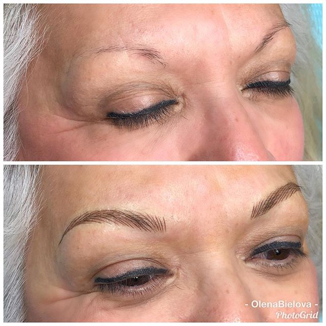 Microblading +manual shading transform her face! I enjoy what I do so much ❤️ #microblading #microbladinggrandrapids #microbladingla #lamicroblading #microshading #microbladingwestmichigan #grandrapidsmakeupartist #eyebrows #eyebrowstransformation