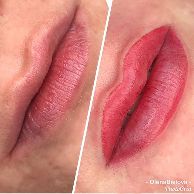 Semi-permanent magic lips shading❤️ I can enhance your lips shape in just one visit.  When healed color look lighter and  softer. . . Полуперманентный Magic shading для любой формы губ.  Я могу улучшить вашу форму губ всего дишь за одну процедуру. Когда губки заживут цвет смотрится светлее и мягче. . #lipsshading #magicshading #lipspermanentmakeup #lipspermanentmakeuplosangeles #permanentlipsla #permanentmakeup #permanentmakeupgrandrapids #microbladinggr #microbladinggrandrapids #permanentmakeupartist #permanentmakeupartisla