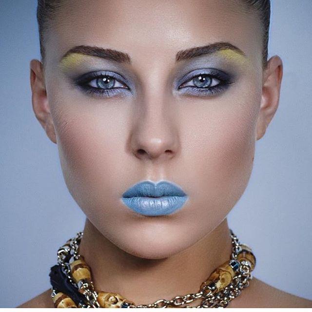Beautiful warrior.  To quickly enhance eye color I just add black kajal pencil and her eyes just popped  makeup by me @olenamakeup . . Образ Красивый Воин для журнала Макияж. Что-бы быстро придать выразительности глазам я просто прокрашиваю внутреннее веко черным карандашом кайалом и оттенок глаз становится ещё ярче. . .  #makeup #lamakeup #lamakeupartist #grandrapidsmakeupartist #grandrapidsmakeup #permanentmakeupartist #dtlamakeupartist #westhollywoodmakeupartist #westhollywoodmakeup #blueeyeshadow #blueeyes #bridalmakeup