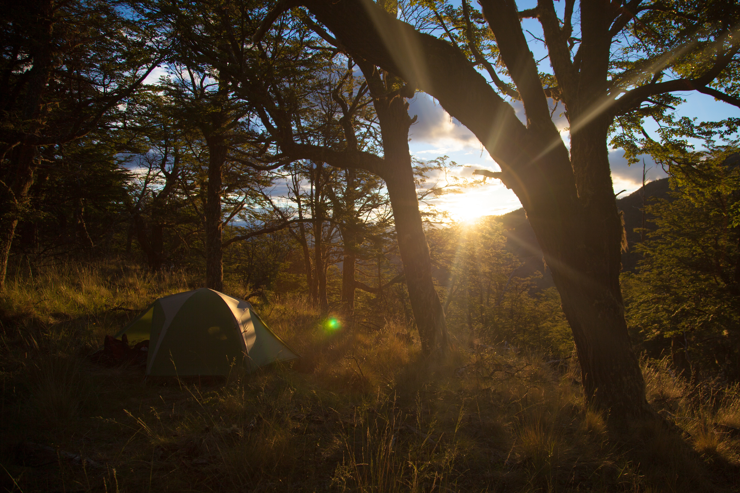 Campsite in the Patagonia National Park; volunteer