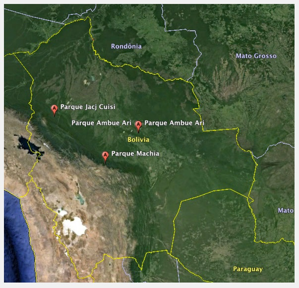 Inti Wara Yassi Map Locations