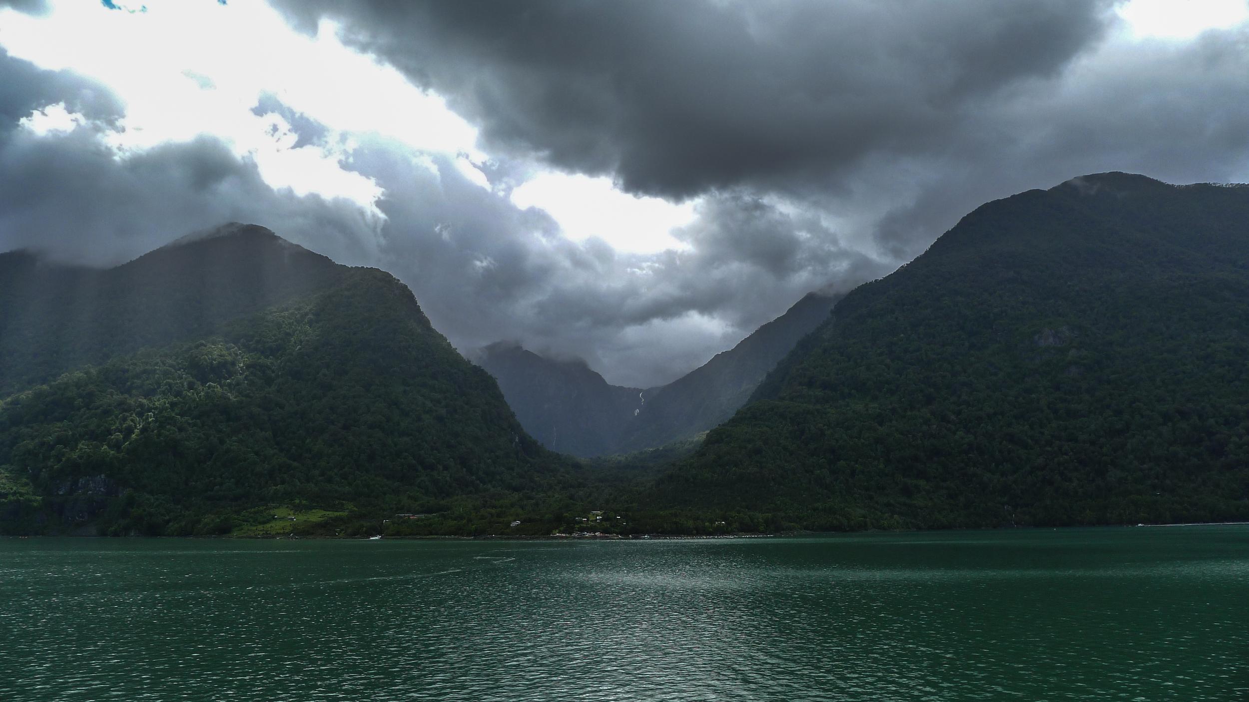 Pumalin ferry ride; Pumalin nature, landscapes, fiords