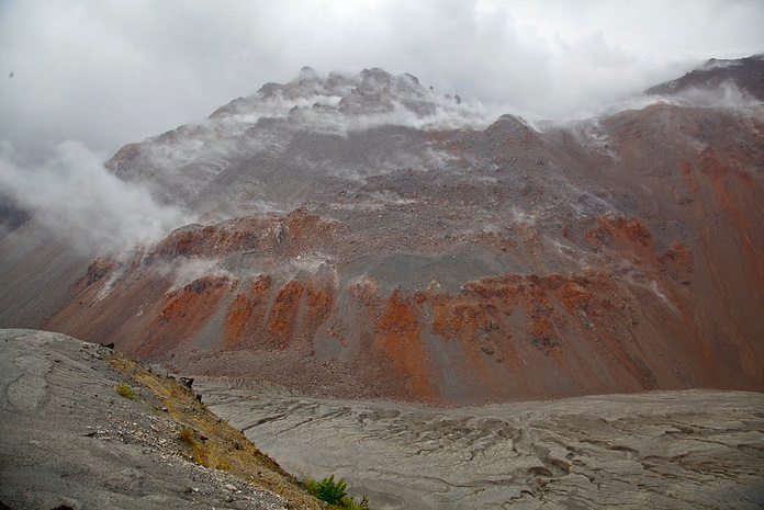 The top of the Chaiten Volcano, Pumalin; nature, landscapes