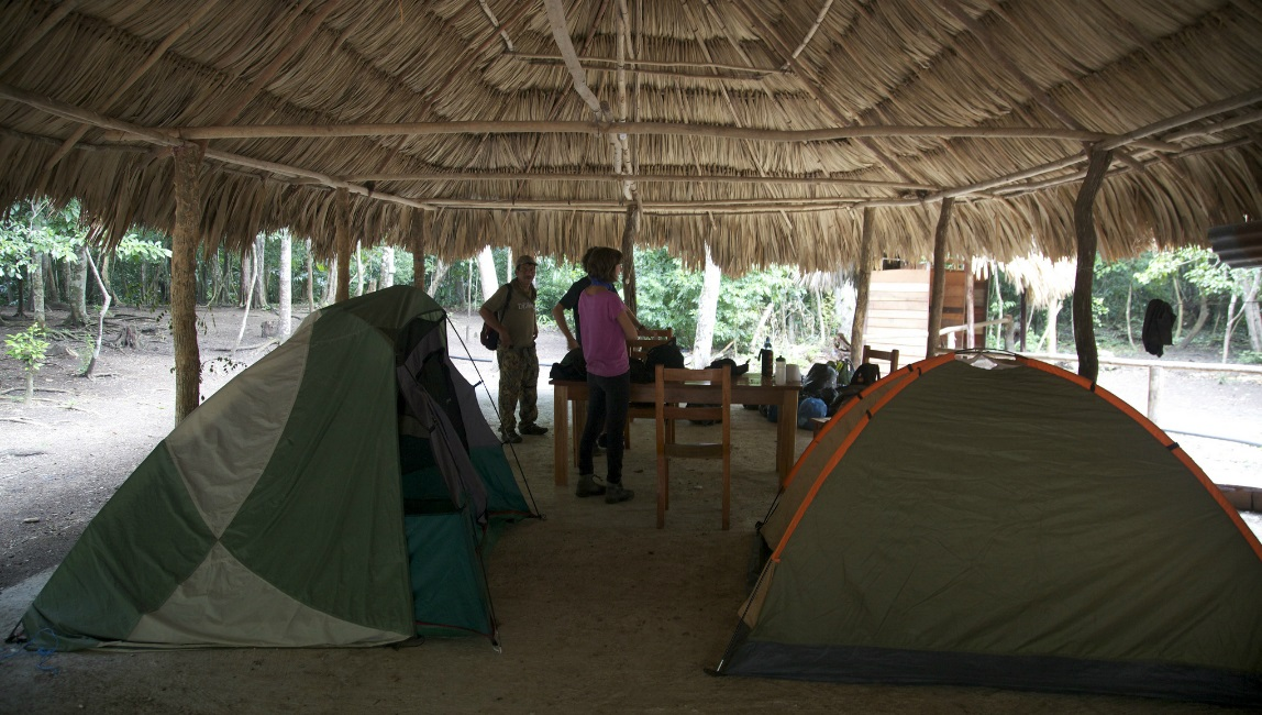 Campground on the hike to El Mirador, Guatemala