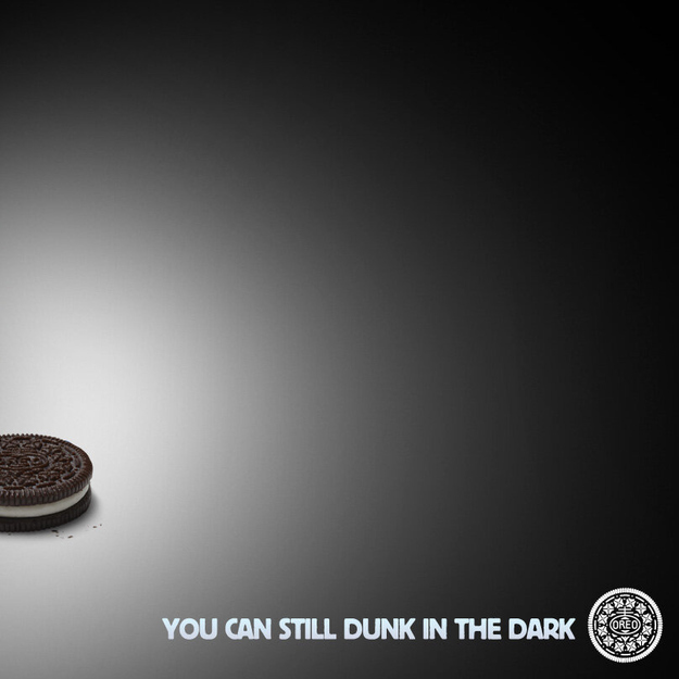 Oreo cookie ad