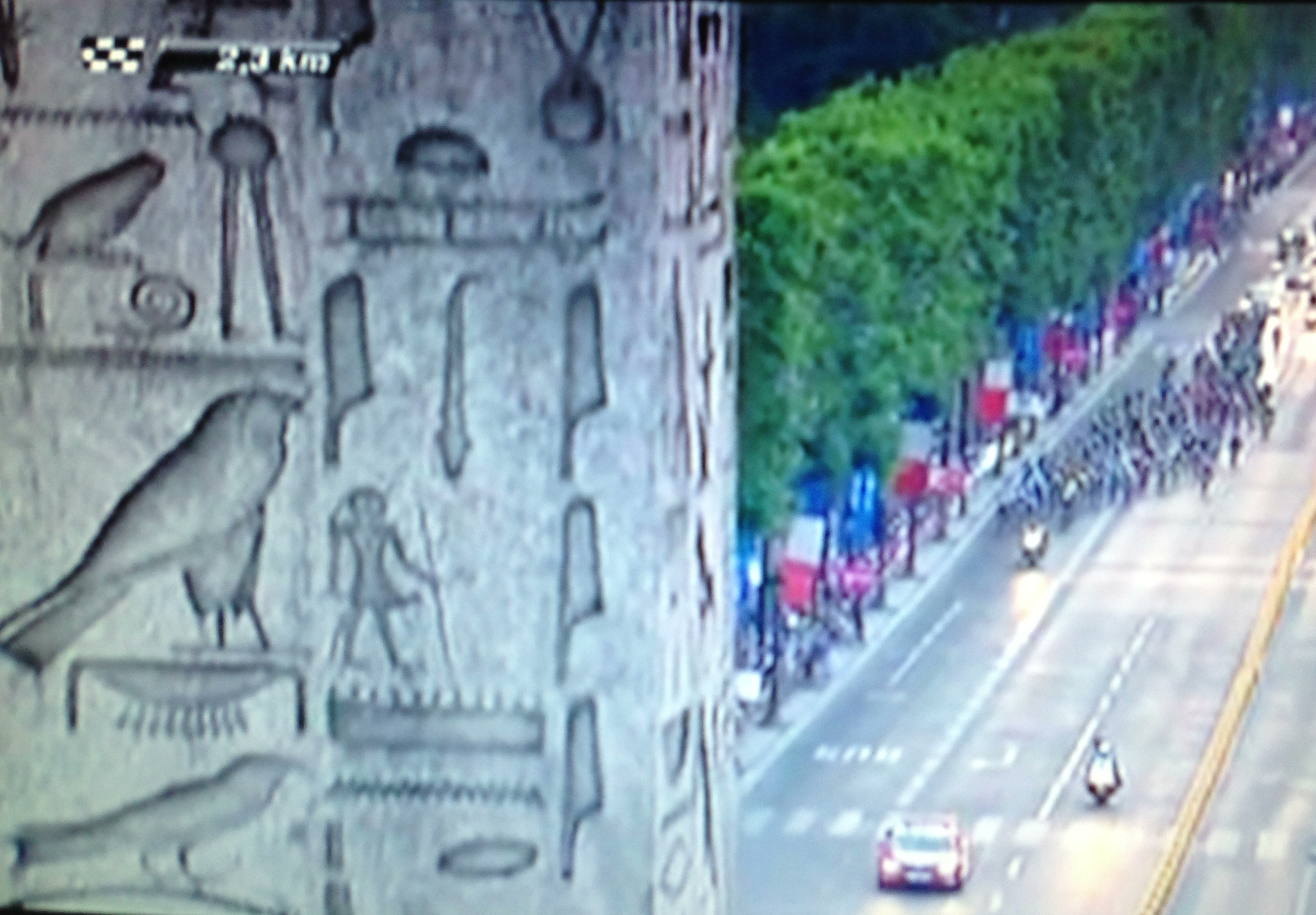 View of the obelisk in the tour de france