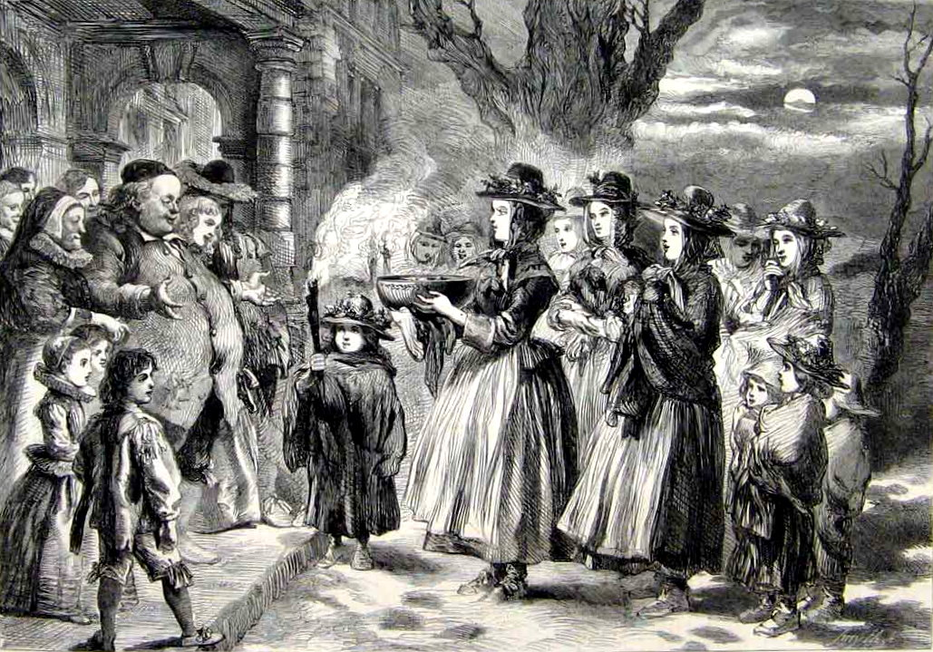 The Wassail Bowl. by John Gilbert, 1860.