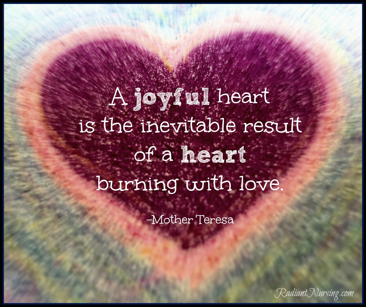 A joyful heart...