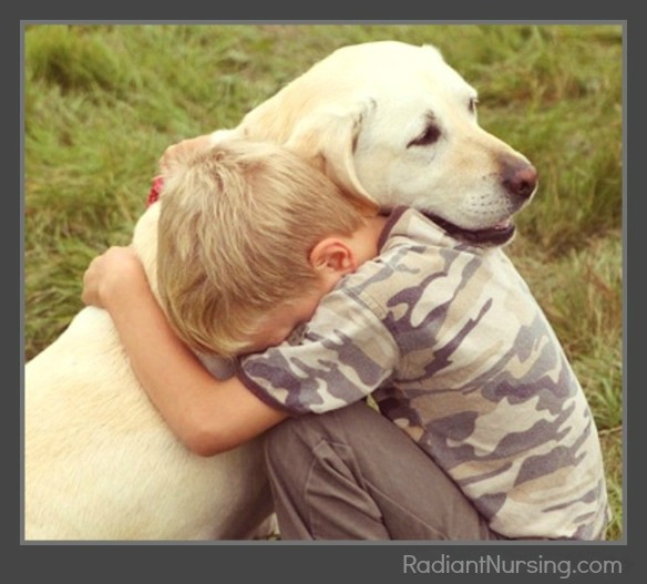 The sorrow when we have to say goodbye to our pets.