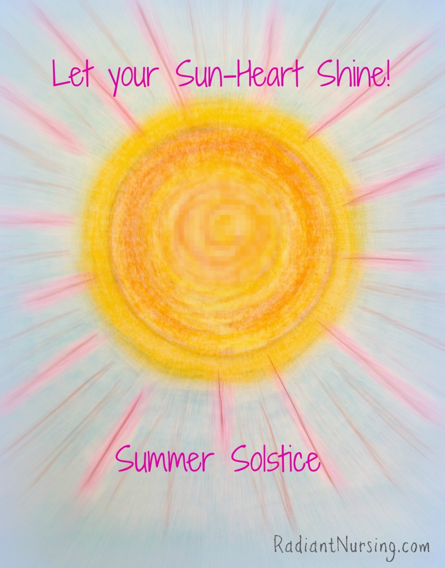 Let your sun-heart shine for the summer solstice.