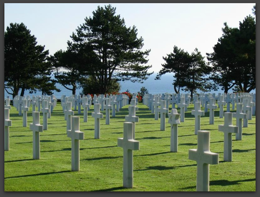 WWII AMERICAN CEMETERY IN NORMANDY