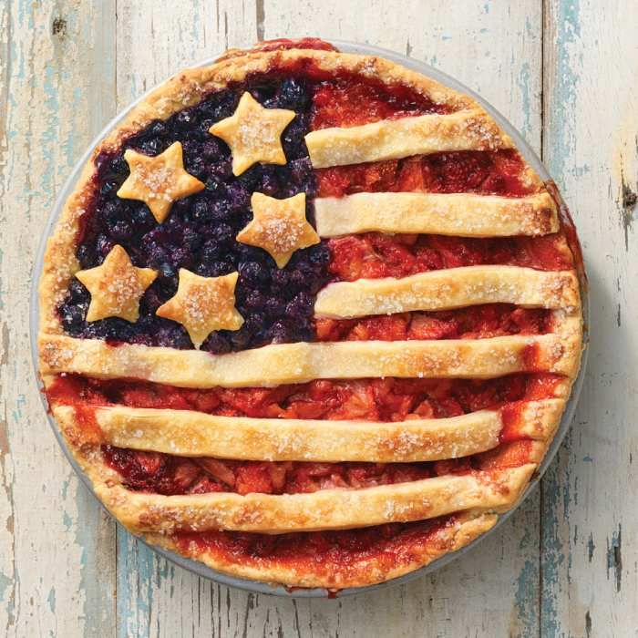 A Fourth of July pie to celebrate the holiday.