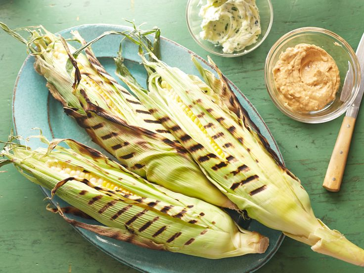 Grilled corn-on-the-cob for The Fourth of July. Add some lime and you're set.