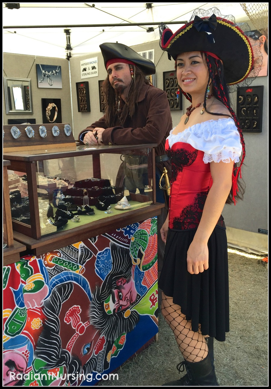 There are many wonderful pirate costumes to see at The Northern California Pirate Festival.