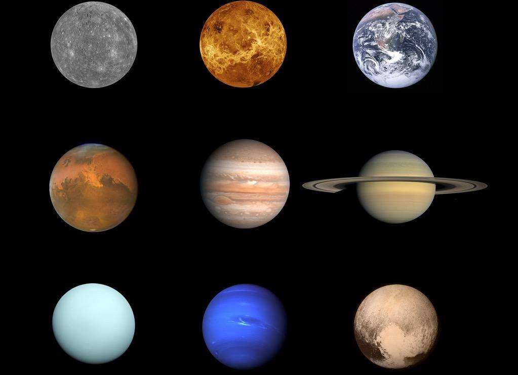 Our completed family portrait of the planets in our solar system. Ahhhh, it's nice to have all the family together.