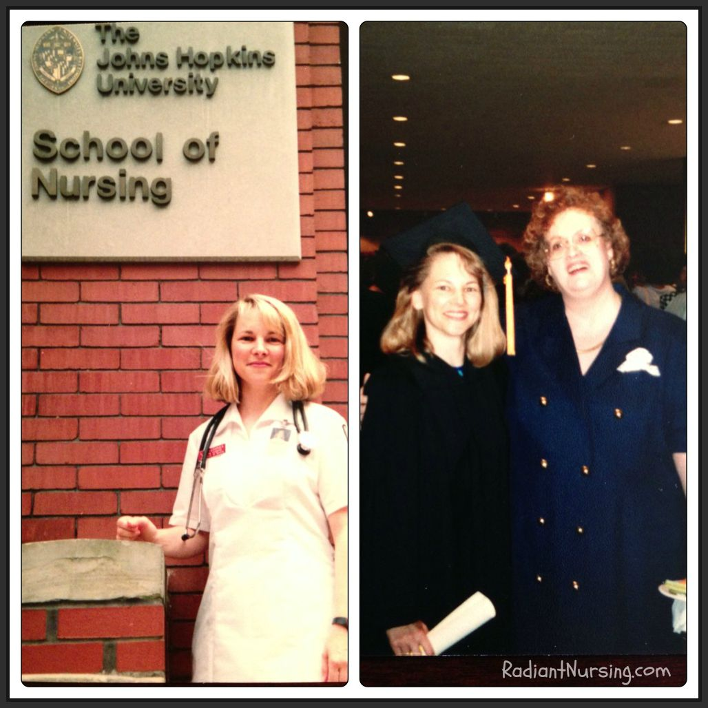 Attending Nursing School at Johns Hopkins and graduating.