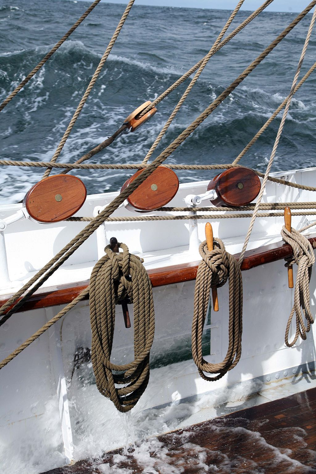 Belaying pins are still used today on sailing ships. Pirates!