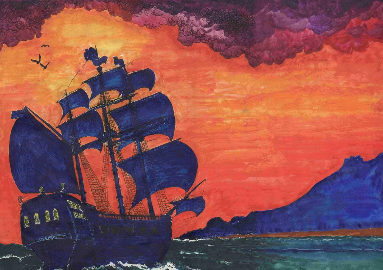 Hispaniola, the ship in Treasure Island.