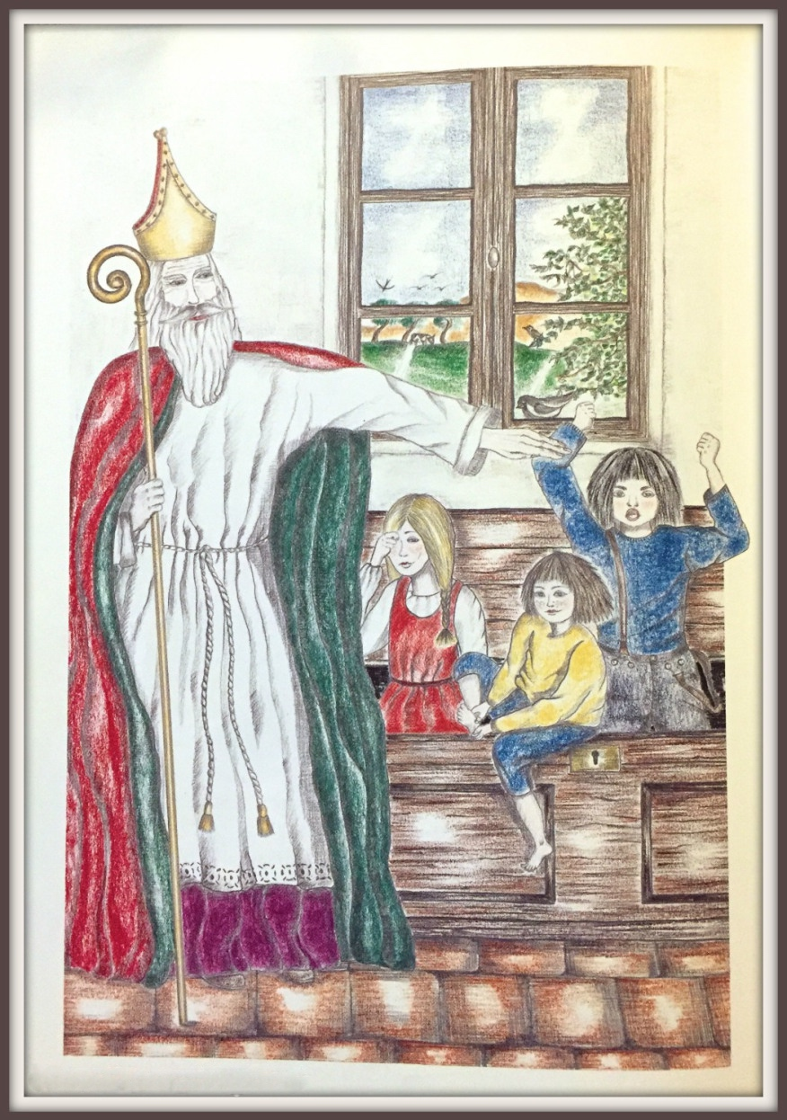 In the story of Saint Nicolas, he saves the three children