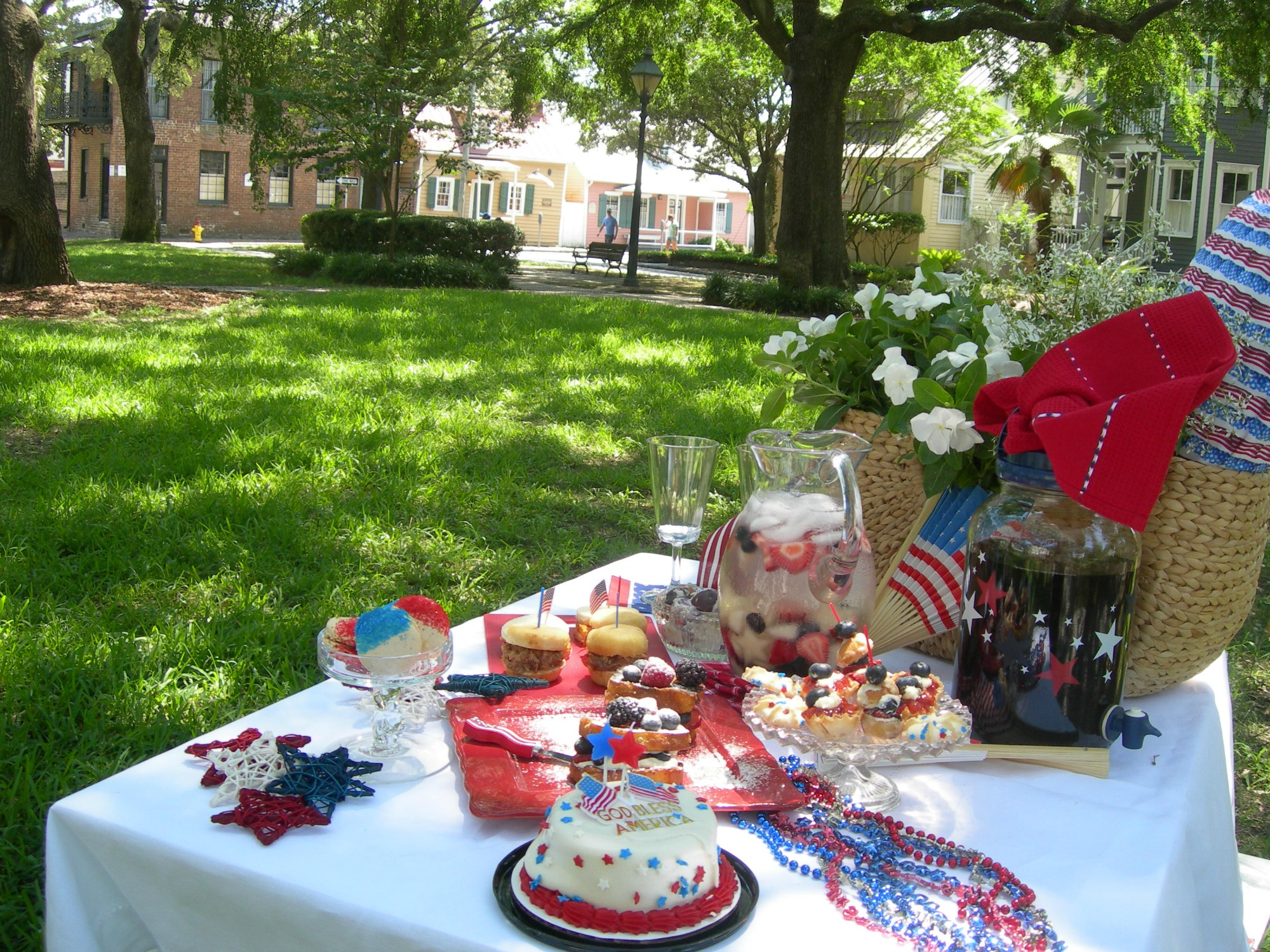 Time for picnics on The Fourth of July. Food to celebrate with Radiant Nursing.