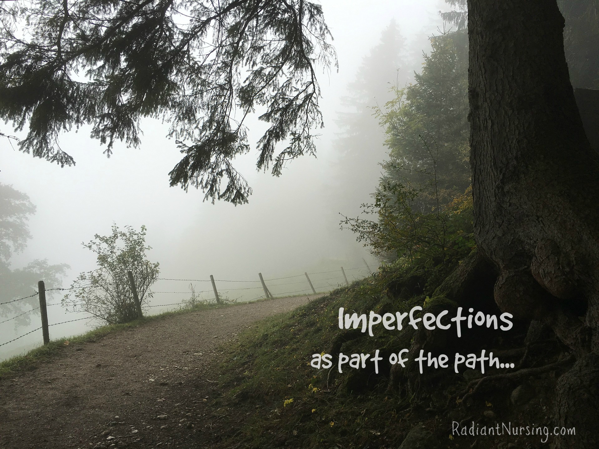 Imperfections as part of the path. Willing to let go of competition, even in our meditations.