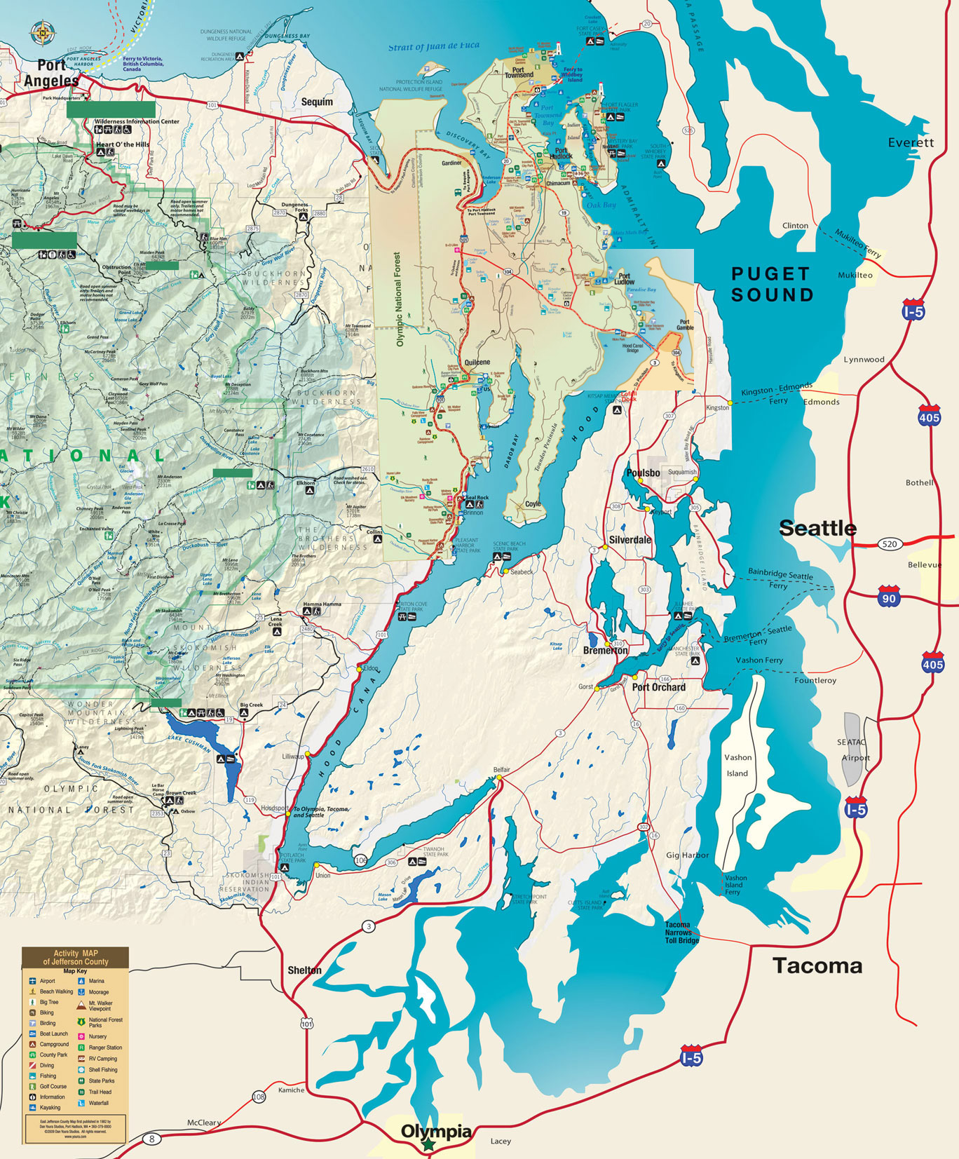 Map of Puget Sound, Washington.