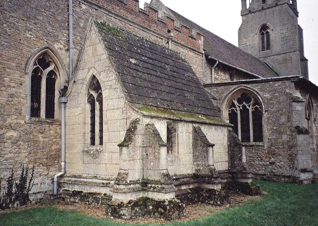 An anchorhold attached to a church that would house an anchorite. A person who committed to a religious life limited to that small space.